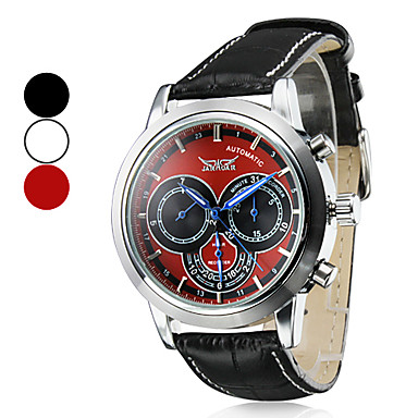 Men's Wrist Style Analog PU Mechanical Water Resistant Watch (Assorted Colors)