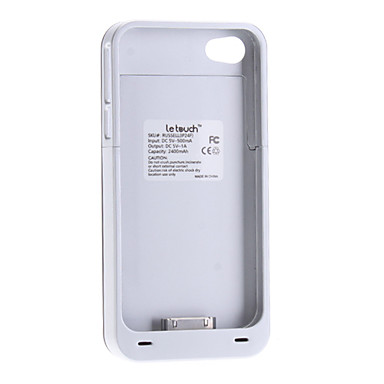 Russel Battery Case for iPhone 4/4S (2400mAh, 5V 1A)