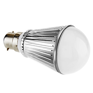 7W B22 LED Globe Bulbs A60(A19) 7 High Power LED 450 lm Natural White Dimmable AC 220-240 V