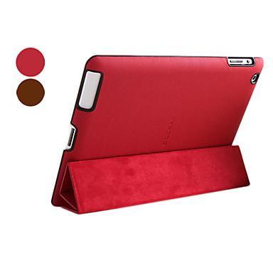 Microgroove Pattern PU nahkainen jalusta iPad 4 ja uusi iPad ja iPad 2 (eri värejä)