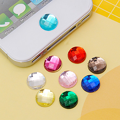 Joyland Acrylic Button Sticker (Random Colors) DIY for iPhone 8 7 Samsung Galaxy s8 s7