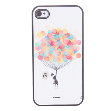 Balloon Pattern Hard Case for iPhone 4/4S