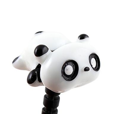 3,5 mm Stereo-Cartoon Niedliche faule Panda Pattern Anti-Staub Stecker