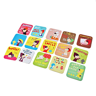 Lovely Girl Pattern Square Coasters Cup Mat (Random Color)