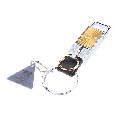Gold & Silver Rectangle Metal Keychain