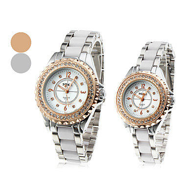Pair of Alloy Quartz Analog Couple's Wrist Watch (Assorted Colors)