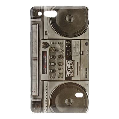 Retro Style Radio Pattern Hard Case for Sony Xperia Go ST27i