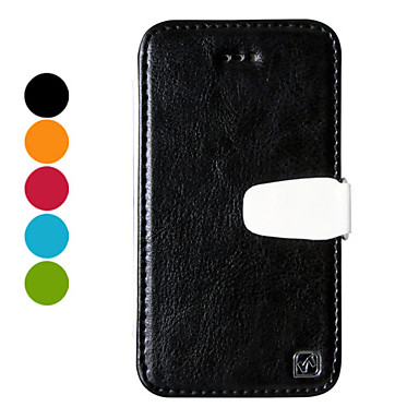 High-class Solid Color PU Leather Full Body Case for iPhone 4/4S (Assorted Colors)