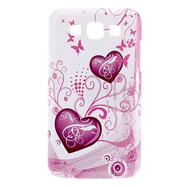 Samsung Galaxy Win I8552 için Kalp Shape Desen Hard Case