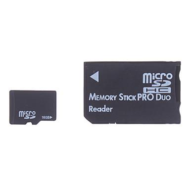16GB MicroSDHC SDHC Memory Card with Memory Stick Adapter