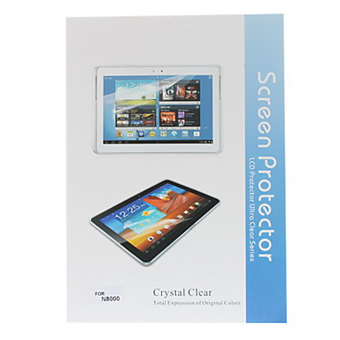 3-IN-1 Crystal Clear Screen Protector With Cleaning Cloth for Samsung Galaxy Note 10.1 N8000