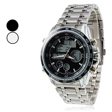 Steel numérique automatique Multi-Mouvement de la montre-bracelet pour hommes (couleurs assorties)