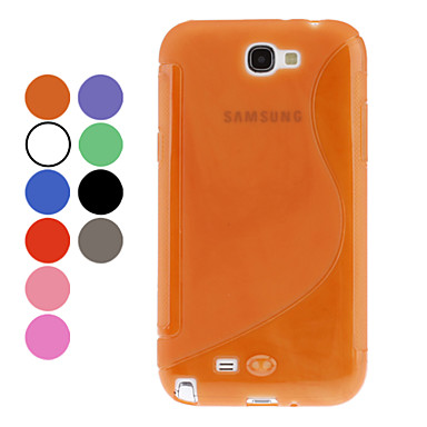 S-Forme TPU pour Samsung Galaxy Note 2 N7100 (couleurs assorties)