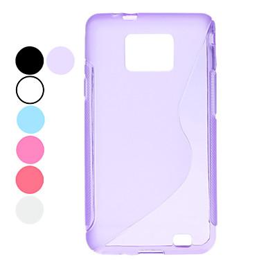 S Shaped Design Transparent Soft Case for Samsung Galaxy S2 I9100 (Assorted Colors)
