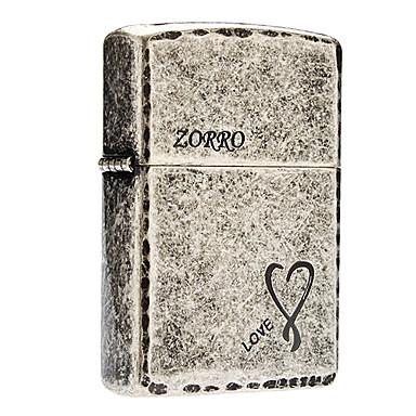 Zorro Love Heart Pattern Oil Lighter with Lighter Fluid