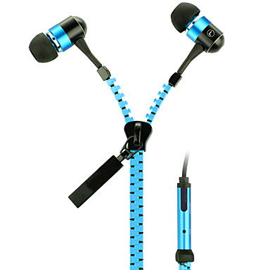 Zip In-Ear Headphones, Orange & Blue, KT-11B