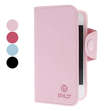 PU bőr tok kártyatartóval és kapcsos pánttal iPhone 4/4S készülékhez (választható színek)