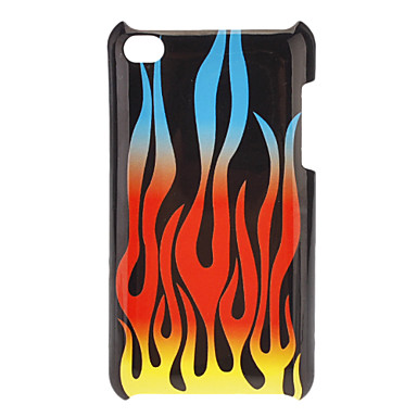 Curving Flame Pattern Hard Case for iPod touch 4