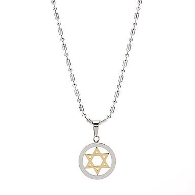 Fashion Titanium Steel Six-Pointed Star Necklace