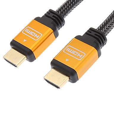 HDMI V1.4 M / M Kabel Net überzogene Gold-überzogenes Black & Orange (1,2)
