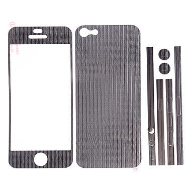 3 Packed Aluminium Metal Full Body Film Protector Set for iPhone 5 (Red&Silver&Gold)