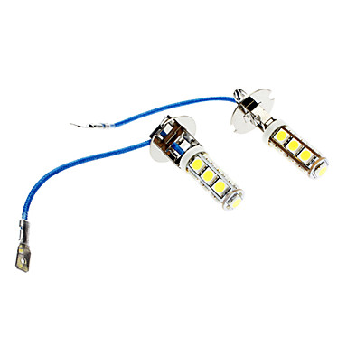 H3 6W 13x5060SMD 500-550lm 6000-6500K LED Luz Branca de LED Luz de Neblina (DC 12V, 1-Par)