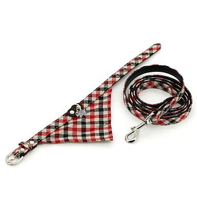 v rifiez le mod le triangulaire collar bandana avec une laisse pour chiens couleurs assorties. Black Bedroom Furniture Sets. Home Design Ideas