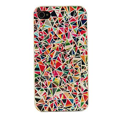 pc çok renkli geometri desen iphone 4 / 4s iphone durumlarda sert durumda