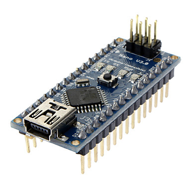cheap Arduino Accessories-Nano V3.0 AVR ATmega328 P-20AU Module Board & USB Cable for Arduino Blue + Black