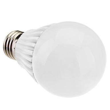 1pç 6W 400-500 lm E26/E27 Lâmpada Redonda LED A60(A19) 5 leds LED de Alta Potência Regulável Branco Quente Branco Natural 3500KK AC
