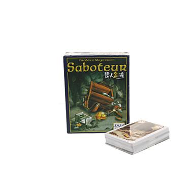 사보타주 스타일 보드 카드 게임은 장난감을 설정