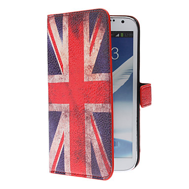 Retro UK Flag Style PU Leather Case with Stand and Card Slot for Samsung Galaxy Note 2 N7100