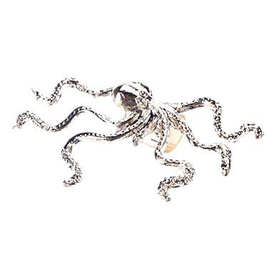 Punk Style Octopus Golden Metal Left Earring
