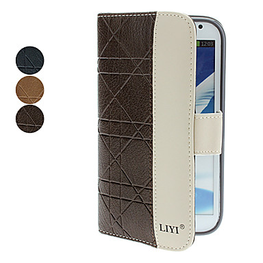 Minimalist PU Leather Full Body Case for Galaxy Note 2 N7100 (Assorted Colors)