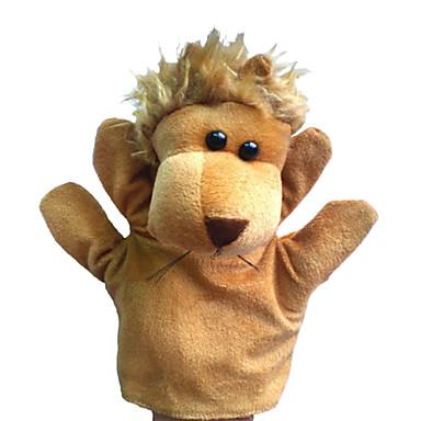 1PCS Hand Puppets Beige Lion