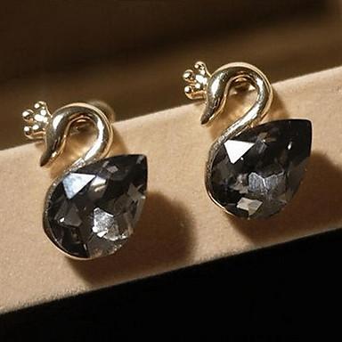 Vidali Küpeler Kristal alaşım Mücevher Için Parti Günlük