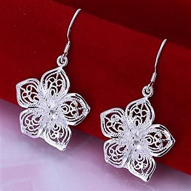 Kadın Damla Küpeler Gümüş Kaplama alaşım Çiçek Mücevher Uyumluluk Parti Günlük