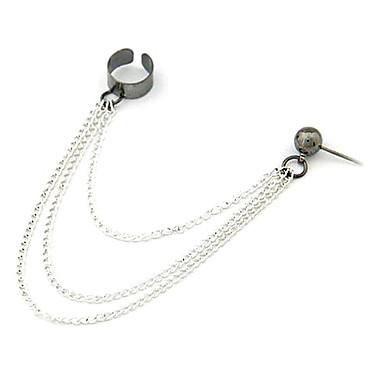 Women's Clip Earrings Tassel European Alloy Anchor Jewelry Daily