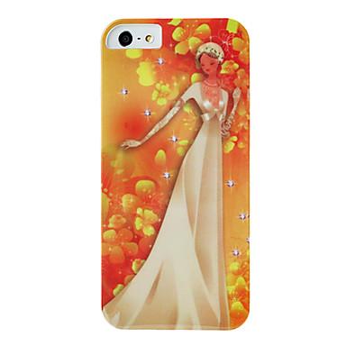 iphone 5/5s için imd teknik düğün bayan model plastik zor durumda