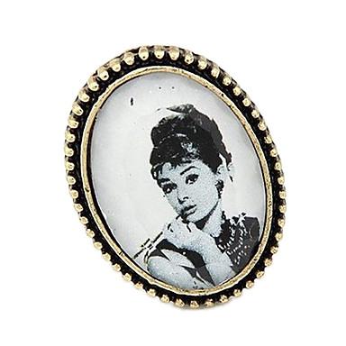 Kadın's İfadeli Yüzükler Vintage Wiktoriańskie Avrupa Reçine alaşım Mücevher Parti Günlük