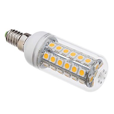 5 Вт. 350-380 lm E14 LED лампы типа Корн T 48 светодиоды SMD 5050 Тёплый белый