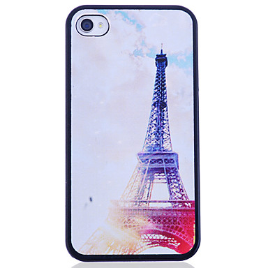 Eiffel Tower Night Printing Back Case for iPhone 4/4S