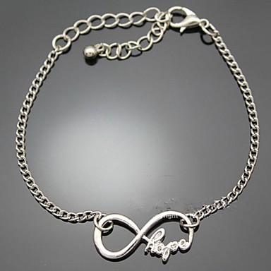 Dames Armbanden met ketting en sluiting Initial Jewelry Legering Oneindigheid Sieraden Feest Dagelijks Causaal