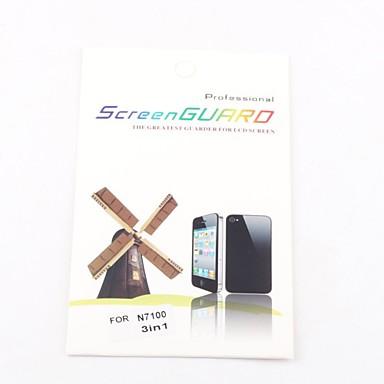 Samsung galaxy için 3x açık ön ekran koruyucusu 2 n7100 dikkat