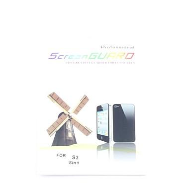 Samsung galaxy s3 i9300 için 8x net ön ekran koruyucusu