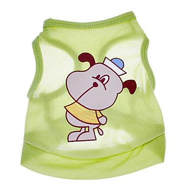 Köpek Tişört Köpek Giyimi Karton Yeşil Pamuk Kostüm Evcil hayvanlar için