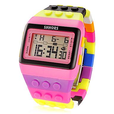 levne Pánské-Dámské Digitální hodinky Square Watch Digitální Alarm Kalendář Chronograf Digitální dámy Přívěšky Módní - Růžová / LCD