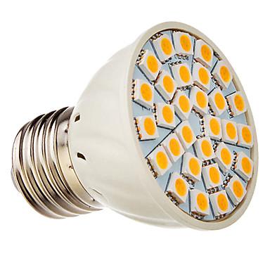 E27 30x5050SMD 3000K Sıcak Beyaz Işık LED Spot Ampul (12V)