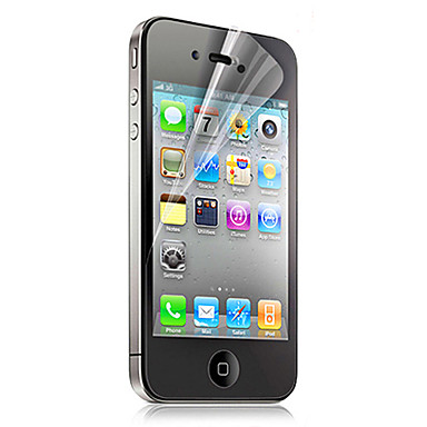 High Transparency PET Material Film Guard Set with Cleaning Cloth for iPhone 4/4S
