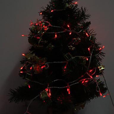 10m Dizili Işıklar 100 LED'ler Kırmızı